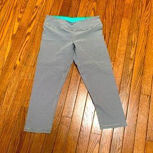 Black wee stripe tights size medium